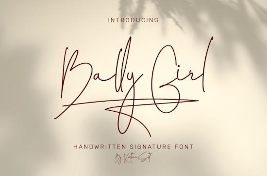 Bally Girl font free download