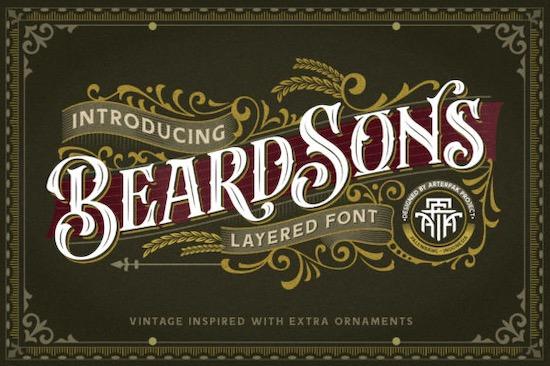 Beardsons font free download