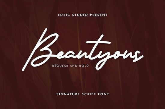 Beautyous font free download