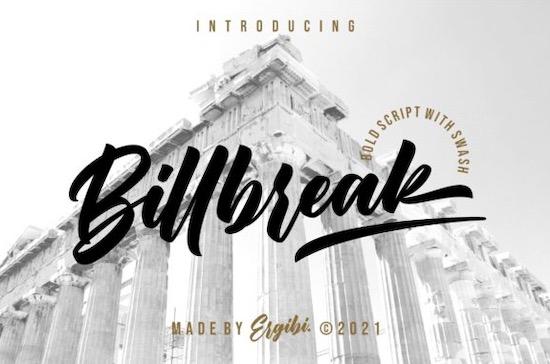 Billbreak font free download