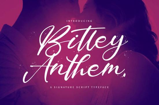 Bitley Anthem font free download