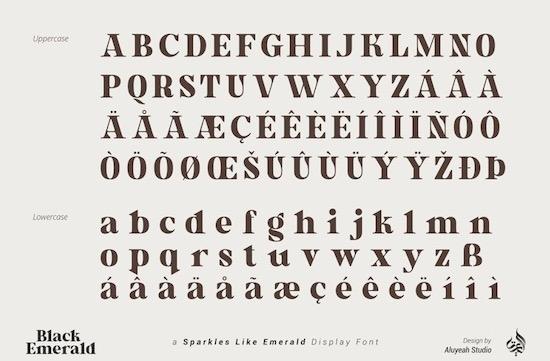 Black Emerald font download