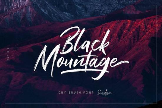 Black Mountage font free download