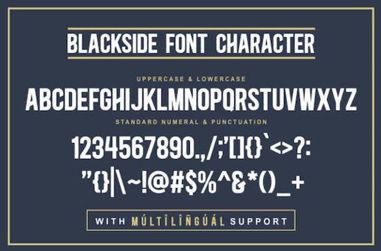 Blackside font download