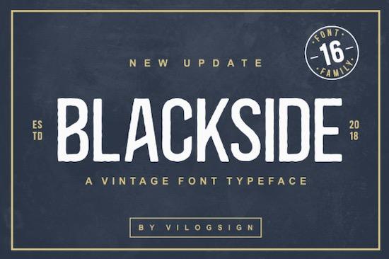 Blackside font free download