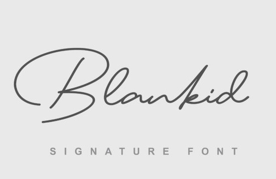 Blankid font free