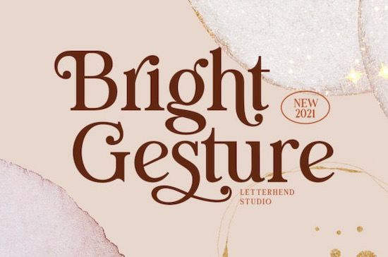 Bright Gesture font free download