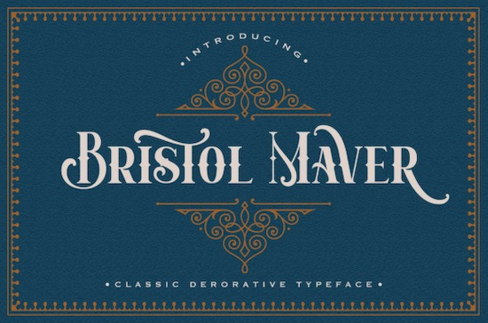 Bristol Maver font free download
