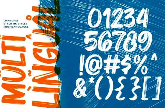 Bruzh font free