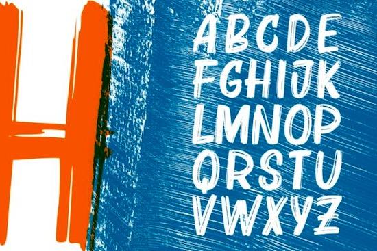 Bruzh font