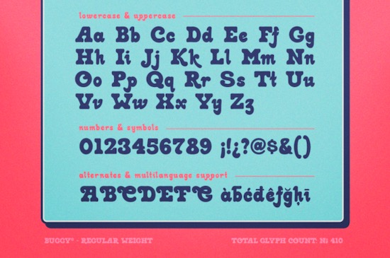 Buggy font download