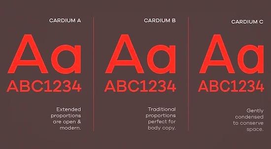 Cardium font download