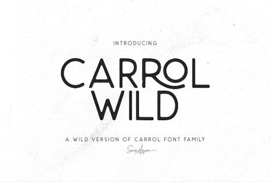 Carrol Wild font free download