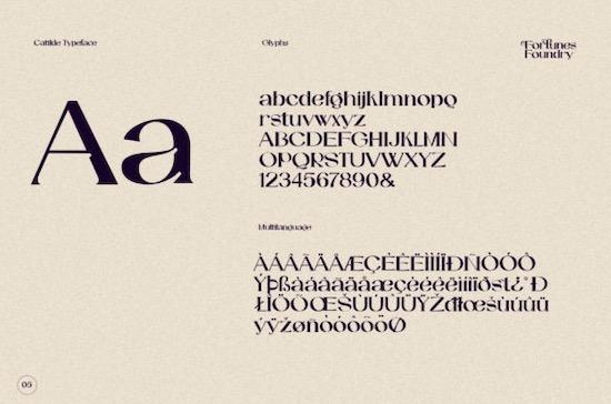 Catilde font