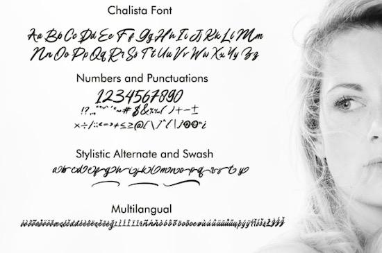 Chalista font