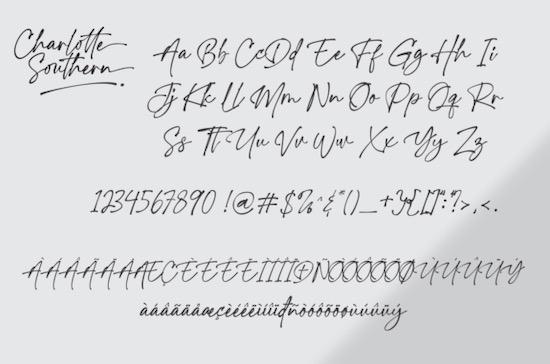 Charlotte Southern font download