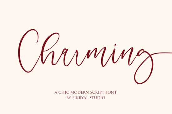 Charming font free download