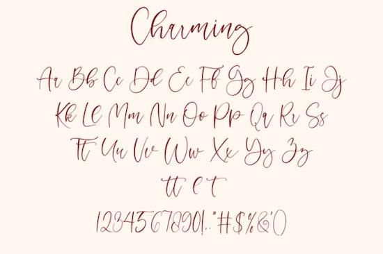 Charming font free