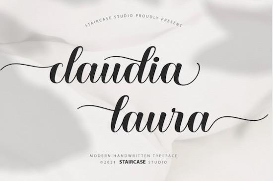 Claudia Laura font free download