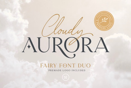 Cloudy Aurora font free download