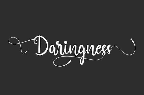 Daringness font free download