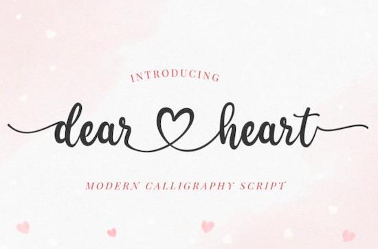 Dear Heart font free download