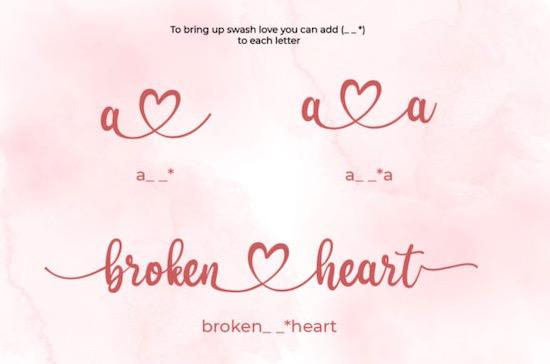 Dear Heart font free