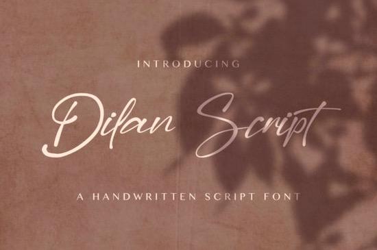 Dilan Script font free download