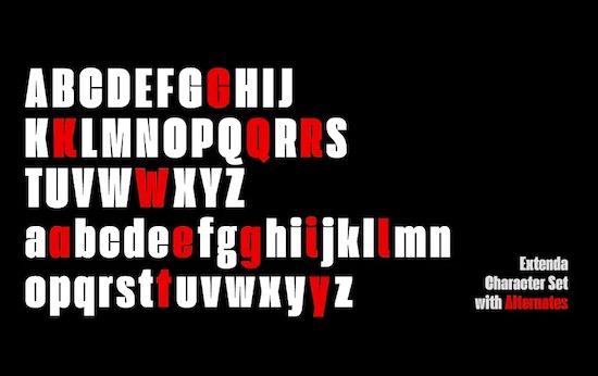 Extenda font download