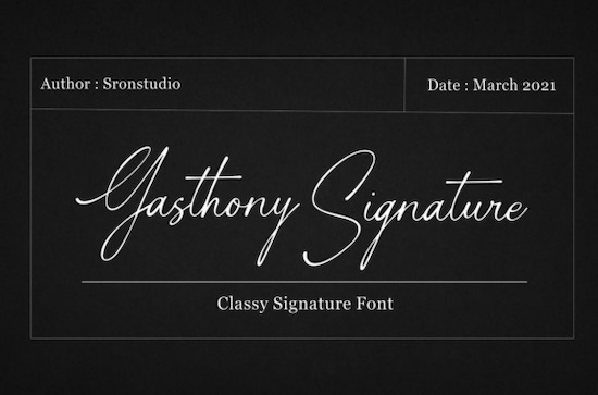 Gasthony Signature font free download