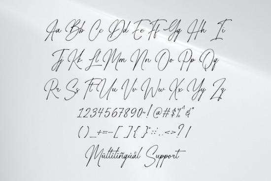Gasthony Signature font free