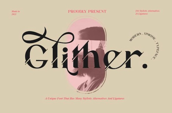 Glither font free download