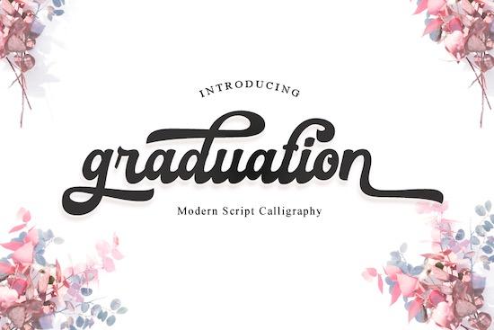 Graduation font free