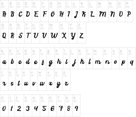 Graduation font