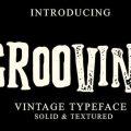 Grooving font