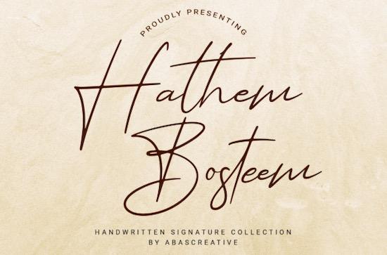 Hathem Bosteem font free download