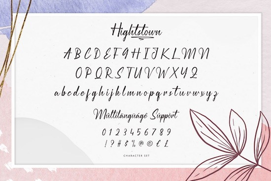 Hightstown font free download