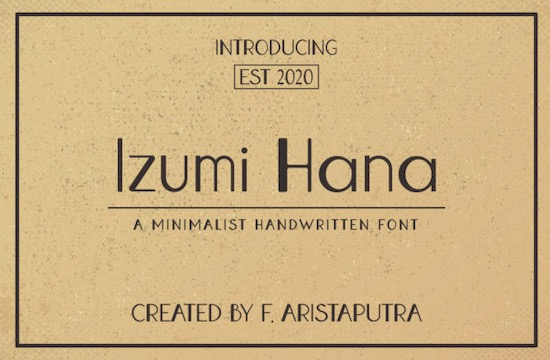 Izumi Hana font free download