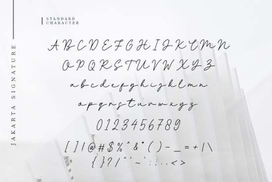Jakarta SIgnature font download