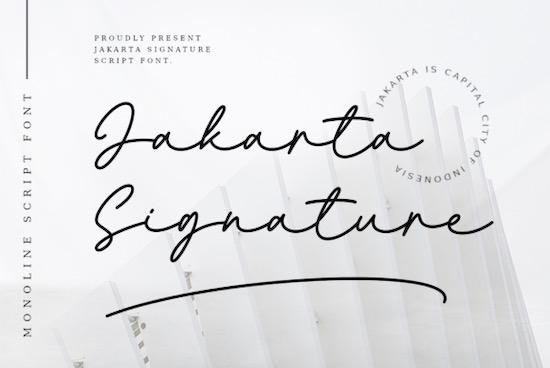 Jakarta SIgnature font free download