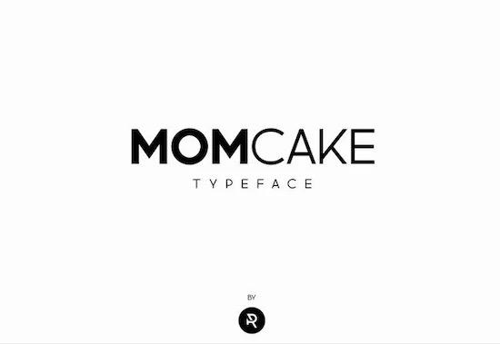 MOMCAKE font free download