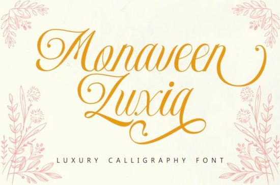 Monaveen Luxia font free download
