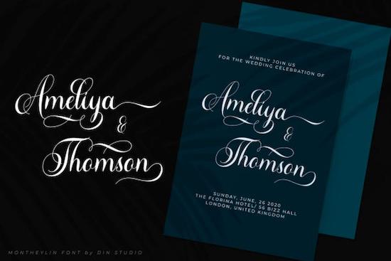 Montheylin font download