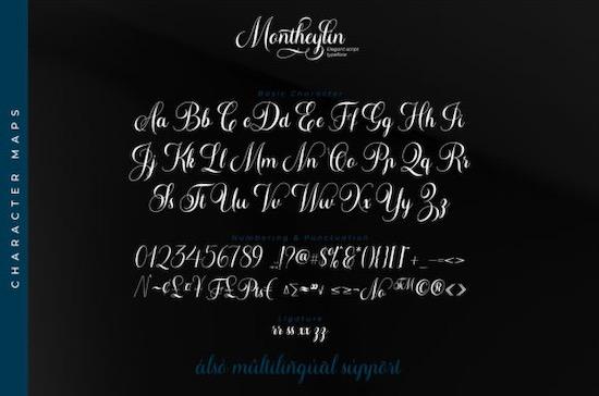 Montheylin font