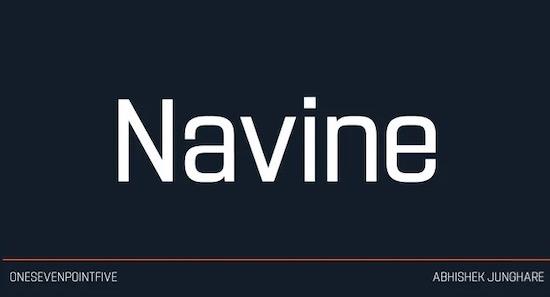 Navine font download