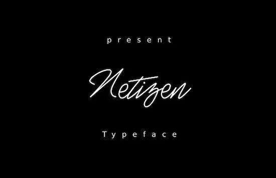 Netizen font
