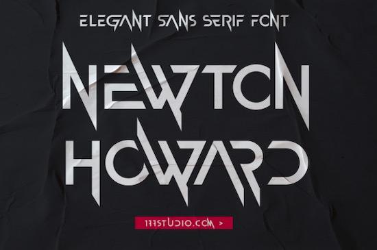 Newton Howard font free download