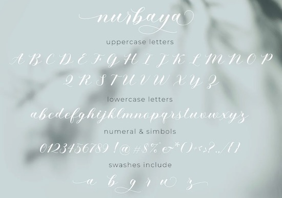 Nurbaya font