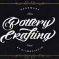 Pottery Crafting font free download