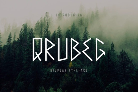 Qrubeg font free download